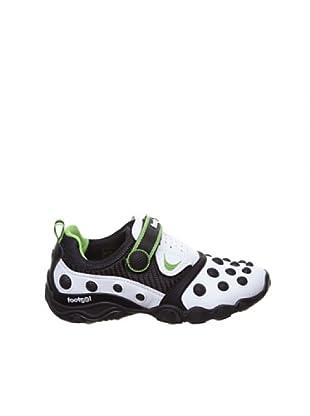 Footgol Sneakers 1 Klett (Weiß/Grün)