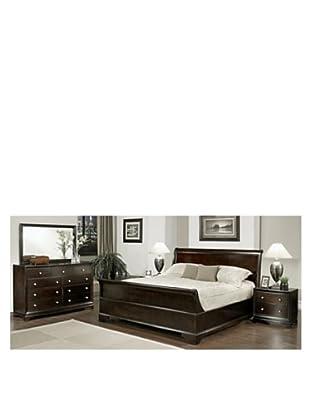 Abbyson Living Capriva 5-Piece Sleigh Queen-Size Bedroom Set, Dark Truffle