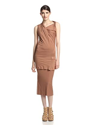 Rick Owens Lilies Women's Asymmetrical Twist Top (Brick)