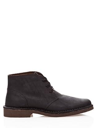 Dockers Zapatos de Cordón de Cuero (negro)
