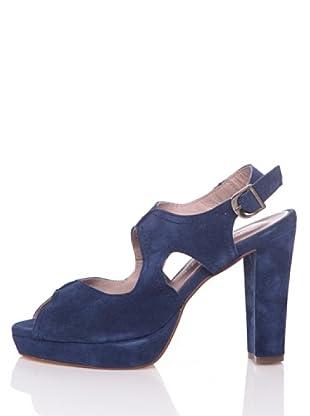 Hakei Zapatos Tacón Vestir (Azul Indigo)