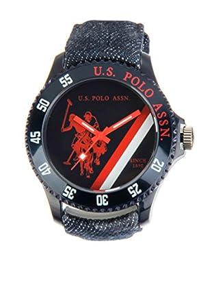 U.S. POLO ASSN. Uhr mit japanischem Quarzuhrwerk Roger denim 44 mm