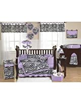 Baby and Kids Purple Funky Zebra Clothes Laundry Hamper by Sweet Jojo Designs