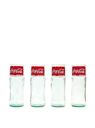 Set of 4 Coca-Cola Classic Bottle Juice Glasses