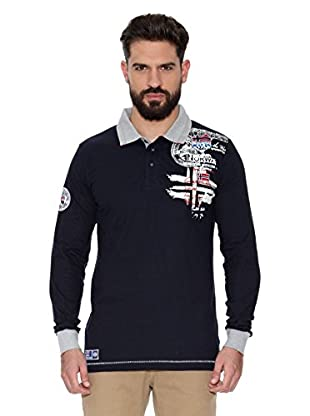 Geographical Norway Polo Manga Larga ML Karite Ls Men 401 (Azul marino)