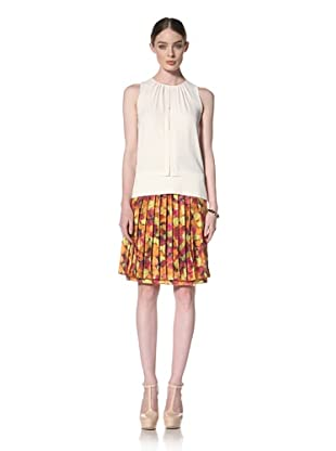 Peter Som Women's Sleeveless Top with Keyhole