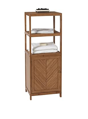 Creative Bath Eco Styles 3-Shelf Tower with Cabinet, Natural