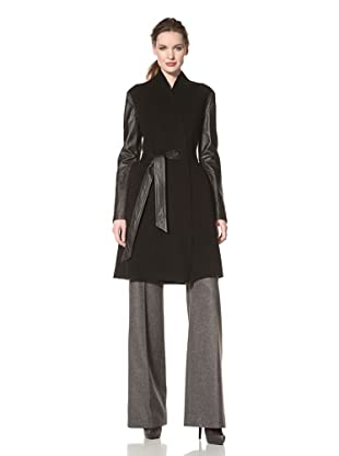 Dawn Levy Women's Minka Double-Face Wool Coat (Black)