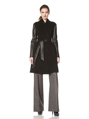 Dawn Levy Women's Minka Double-Face Wool Coat (Black)