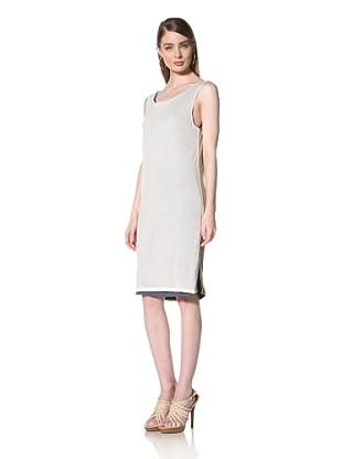 Loomstate 321 Knits Women's Akan Dress 4 Layer Tank Dress (Black/White/Khaki/Blue)
