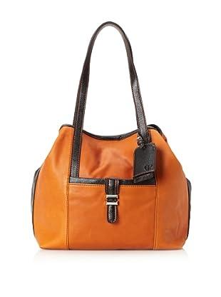 Charlotte Ronson Women's Classic De-Constructed Tote Bag (Cognac)