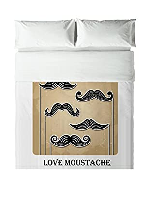 Hipster Bettwäsche Love Moustache