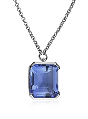 ELLE Jewelry Synthetic Blue Quartz Necklace, 16