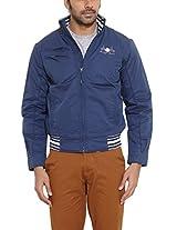 Duke Men Cotton Dark Blue Jacket - Free Size