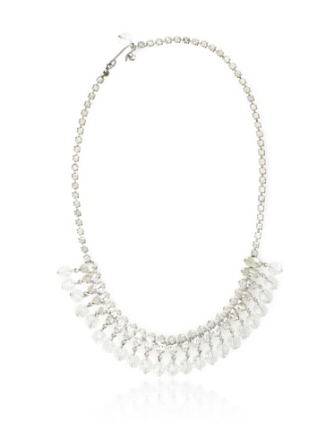Lulu Frost 1940's Art Deco Ball Drop Necklace, Silver