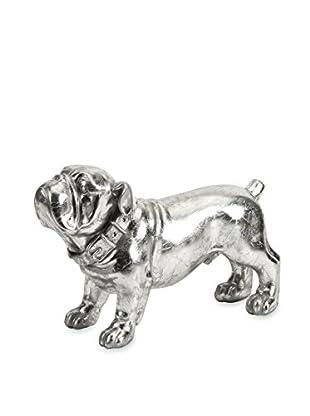 Maximus Silver Dog Statue