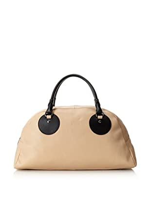 Charles Jourdan Women's Gemma Satchel (Tan/Black)