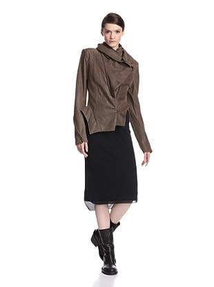 Ann Demeulemeester Women's Leather Jacket (Grey)