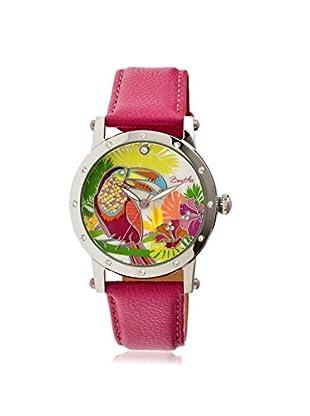 Bertha Women's BTHBR4401 Gisele Hot Pink/Multicolor Leather Watch