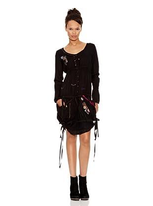 Desigual Vestido Nanti (Negro Estampado)