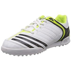 Adidas Boys Howzat IV J White, Black and Parrot Green Sports Shoes - 13C UK
