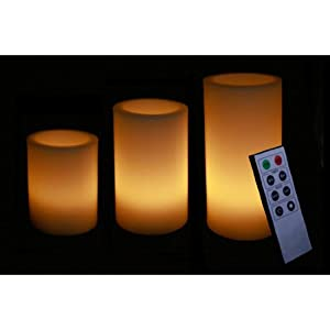 Mebelkart YELLOW LED CANDLES WITH REMOTE - SET OF 3