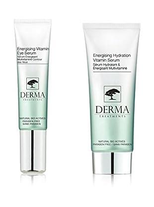 DERMA TREATMENTS Kit de Tratamiento Facial y El Contorno De Ojos Energising