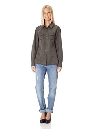 BLUE FIRE Seidenbluse Warren Cowboy Fancy (Olive)