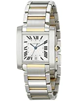 Cartier Men's W51005Q4 Tank Francaise Automatic Stainless Steel and 18K Gold Watch