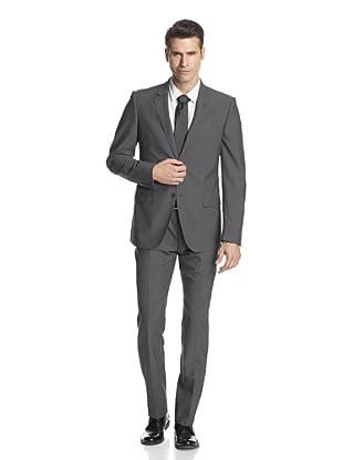 Calvin Klein Collection Men's Hudson Two Button Suit (Squirrel Grey)