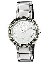 DKNY Analog White Dial Women's Watch - NY4349