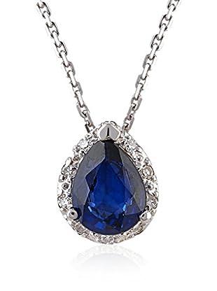Divas Diamond Collar Diamond Drop Sapphire Gold