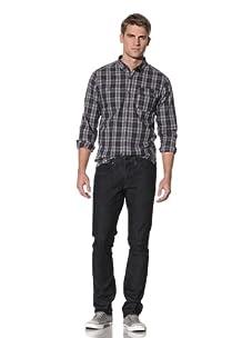 Comune Men's David Fitted 5-Pocket Pant (Dark Indigo)