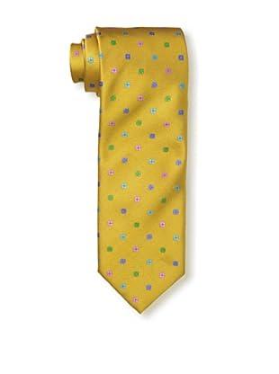 Massimo Bizzocchi Men's Flowers Tie, Yellow