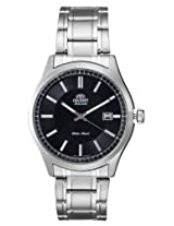 Orient Automatic Men Black Dial Silver Metal Strap Round Shape, Made in Japan