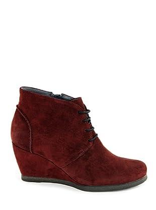 Eye Shoes Botines Cordones Cuña (Burdeos)