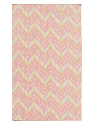 Surya Front Porch Rug, Coral/Lime, 8' x 11'
