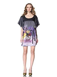 Just Cavalli Women's Short Sleeve Charmeuse Dress (Grey)