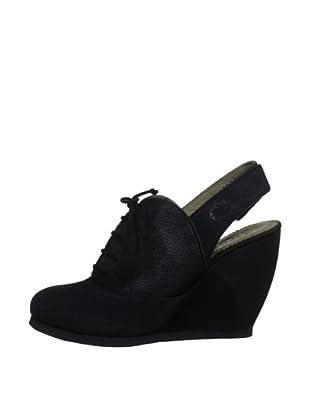 Fly London Zapatos Talón (Negro)