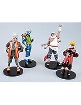Japanese Anime - Naruto Shippuden Figure Collection 4-Piece Set #2 - Hatake Kakashi, Naruto & More