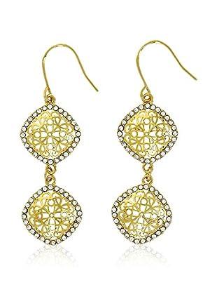 Shiny Cristal Ohrringe  vergoldetes Metall 24 kt