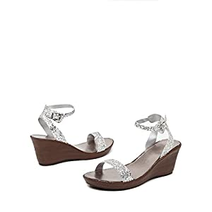 Fairy Tale Shimmer Wedges -Silver-39