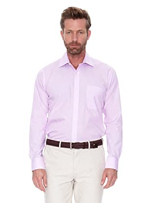 Cortefiel Camisa Fil A Fil (Rosa)