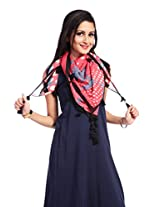 Red Riding Women's Scarf (SCAVISS15803_Multi-Coloured_Free Size)