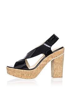 Calvin Klein Women's Tamra Patent Sandal (Black)