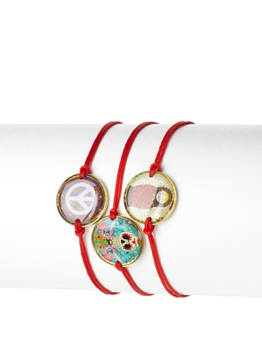 Mercedes Salazar Set of 3 Peace Charm Bracelets