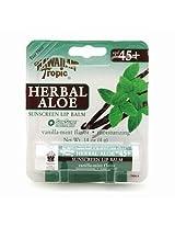 Hawaiian Tropic Herbal Aloe Sunscreen Lip Balm SPF 45 0.14 Ounces / 4 G (Pack of 6)