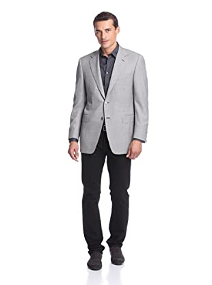 Canali Men's Sport Coat (Black/Grey Houndstooth)
