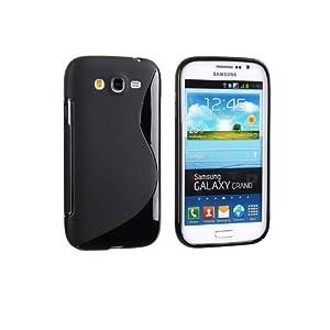 S Line Soft TPU Gel Back Case Cover For Samsung Galaxy Grand Duos I9082 (Black)