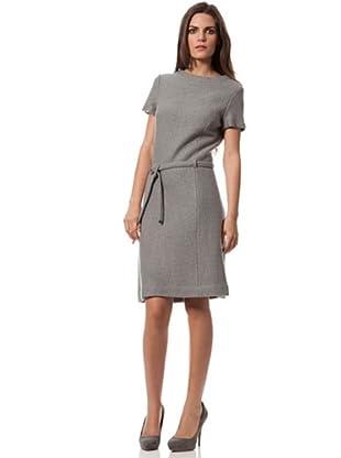 Caramelo Vestido Con Cinturón (gris)